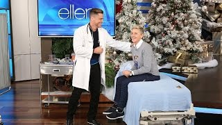Rob Lowe and Ellen Play Doctor