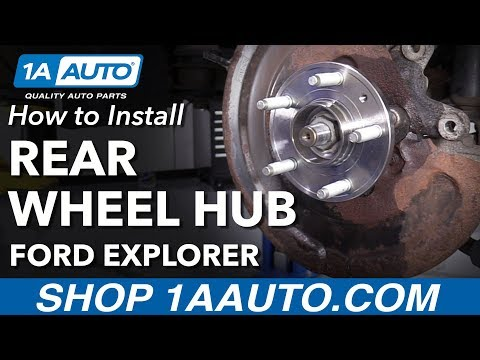 How to Install Rear Wheel Bearing Hub 11-17 Ford Explorer