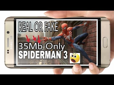 35Mb Spiderman 3 Game Highly Compressed Download in Android Real/Fake