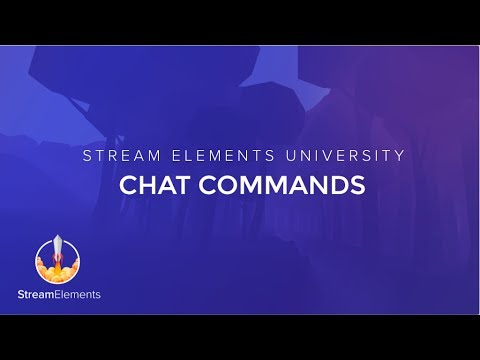 Chat Commands – StreamElements