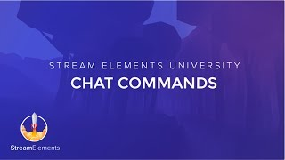 StreamElements Chat Commands thumbnail