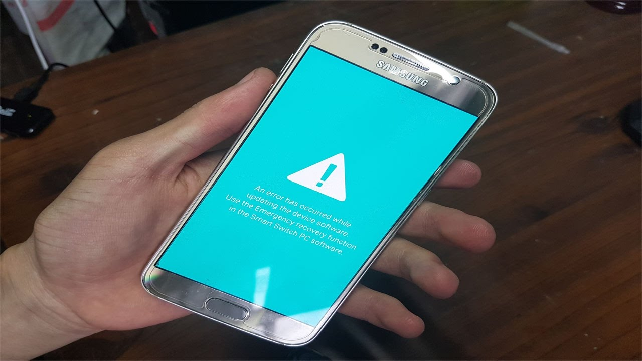 An error has occurred while updating the device software  Recuperar el  inicio de android