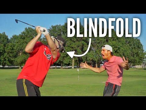 Blindfolded Golf Challenge | Brodie vs. Garrett