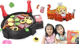 仿真電動烤肉辦家家酒多人遊戲中秋節親子玩具開箱 Toy Barbecue vegetables  play Cooking BBQ 就在Sunny Yummy Kids TOYs