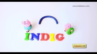 Playdoh VIBGYOR colors with peppa pig | Stop motion | For kids | Children | Learn colors | Kiddiestv