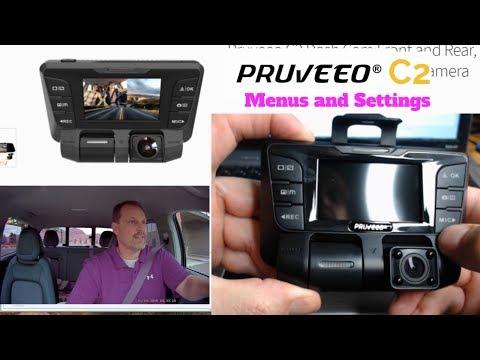 Pruveeo C2 Dash Cam How To - Menus And Settings Part 2
