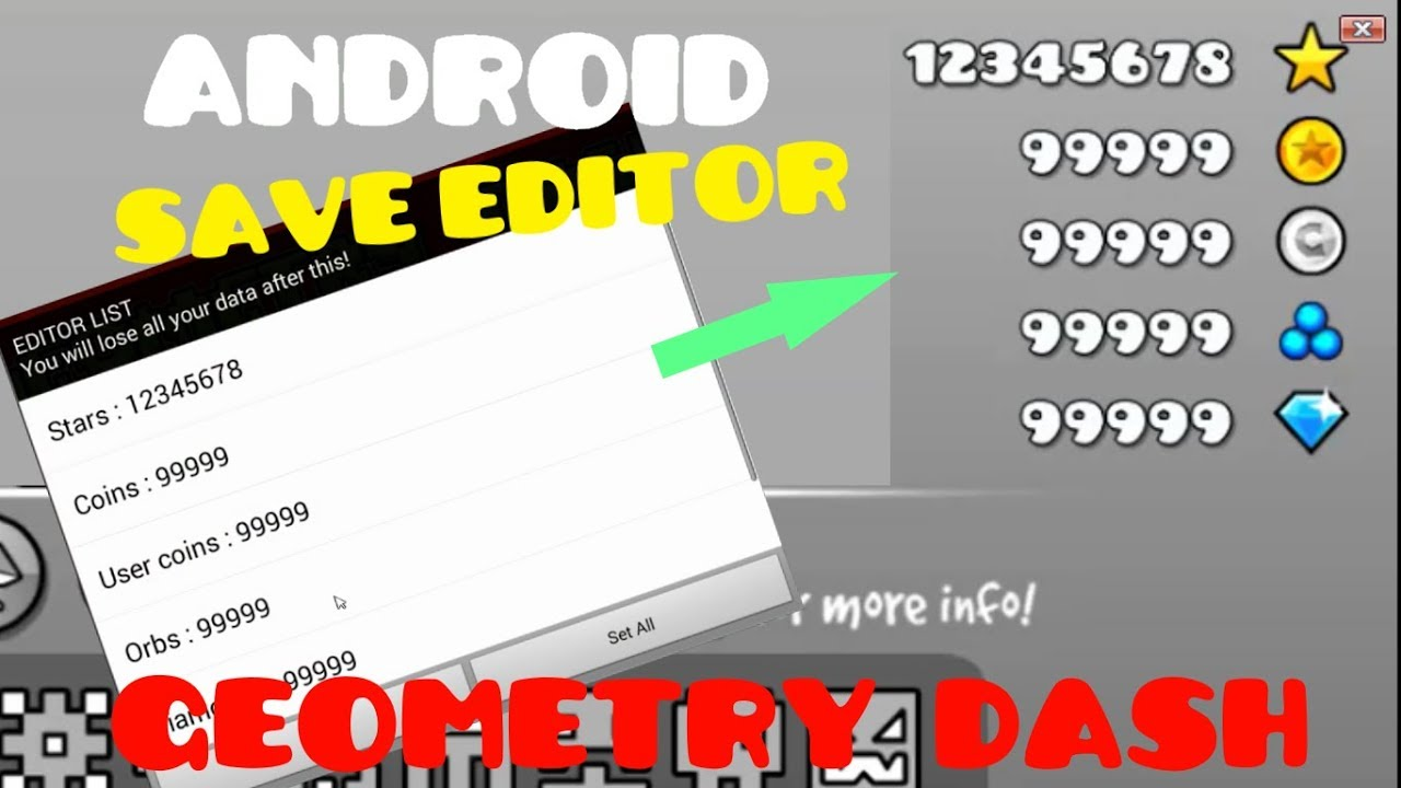 Geometry Dash 2 11 Save Editor FOR ANDROID [NO ROOT]