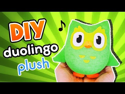 Learn to make a Duolingo Plush in just 5 minutes! Sock Plushie (FREE Pattern) Tutorial