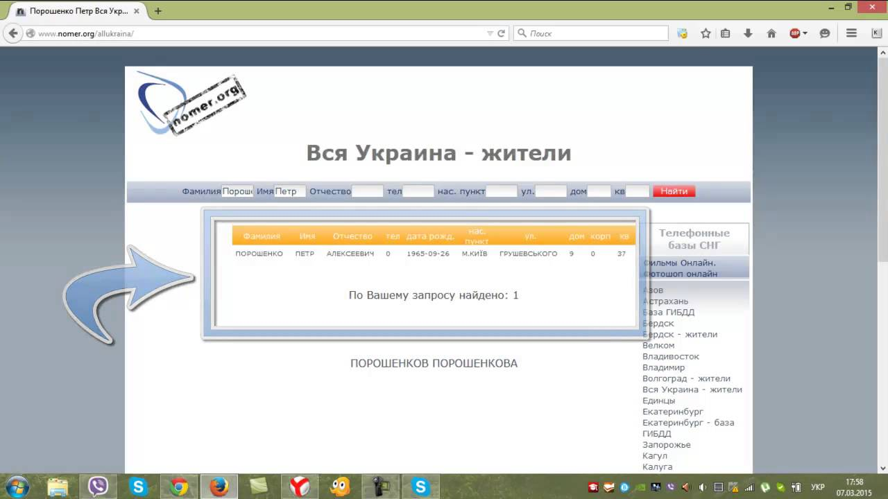 Паспортная база данных украины