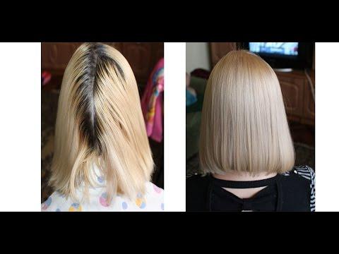 Покрасить волосы в блонд в домашних условиях