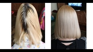 ОКРАШИВАНИЕ БЛОНД.Как покрасить волосы в блонд .бежевый блондин(Буду рада видеть вас на моем втором канале https://www.youtube.com/channel/UCanXca0D7epPZxD6bYaTymw I will be glad to see you on my second ..., 2014-10-13T20:07:26.000Z)
