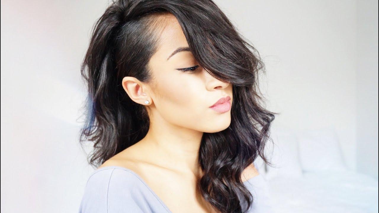 """shaved side"" hair tutorial w| full wig"