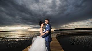 Самая красивая свадьба на берегу Горьковского моря.