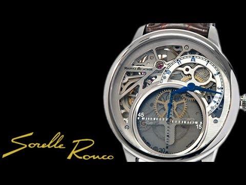 MAURICE LACROIX Masterpiece Mysterious Seconds Revelation 43 mm argento  cinturino pelle marrone 55e843ce86