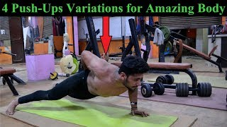 Top 4 Push-Ups Exercise for Fast Muscle Growth | Build Amazing Body with Push Up