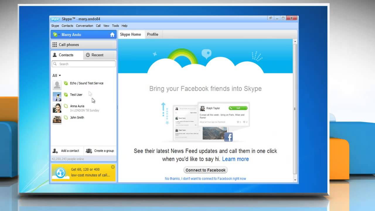 skype contacts online
