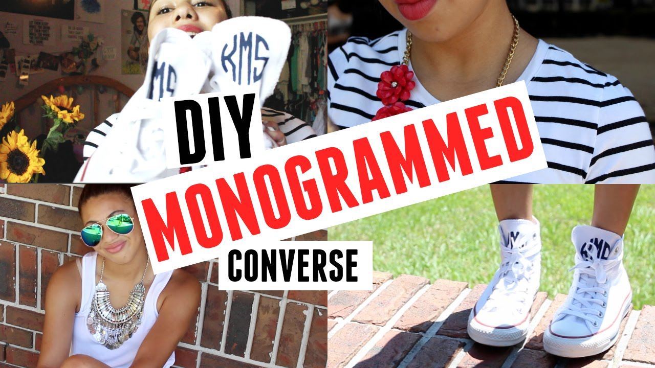 DIY Monogrammed Converse   How to Style  6a4d356c5