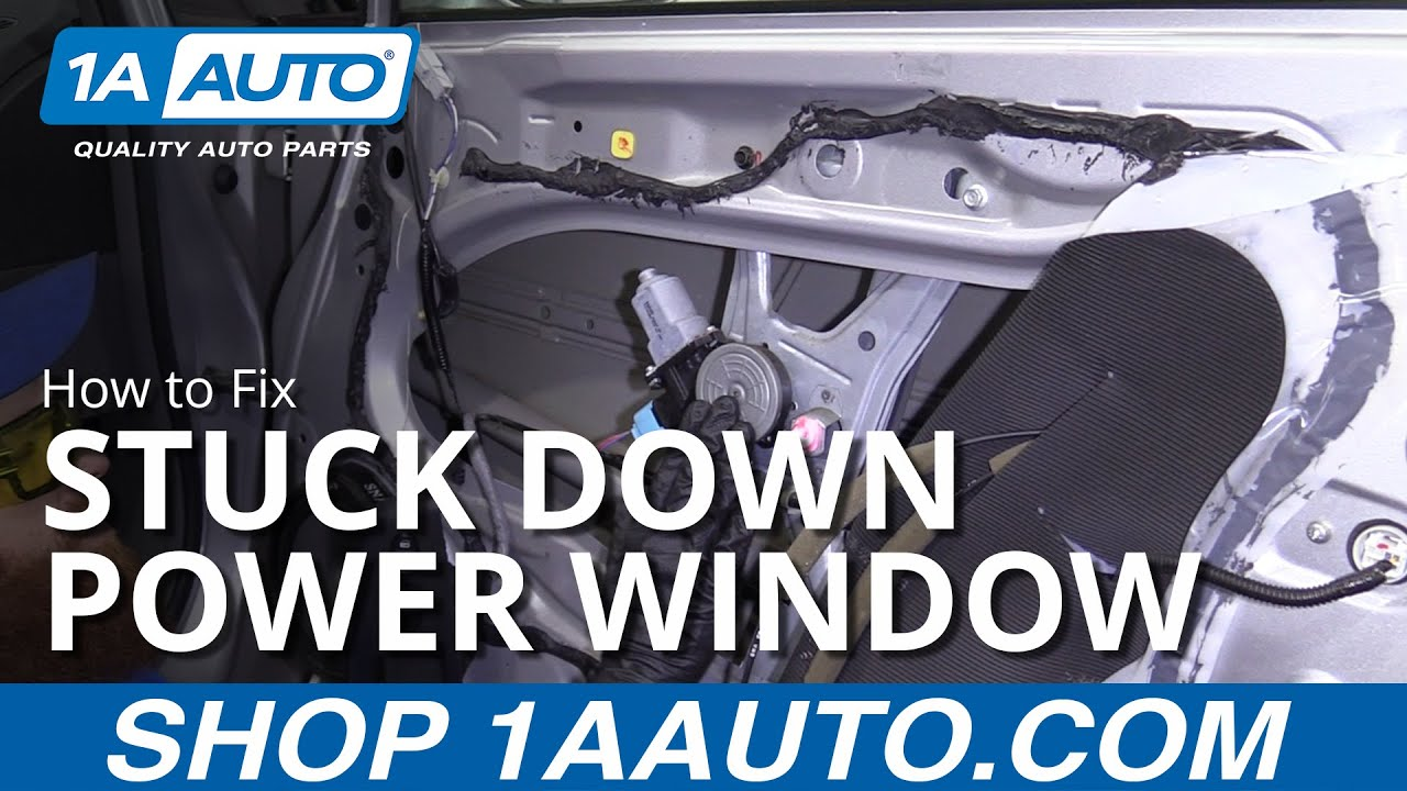 How To Diagnose Power Window Problem Is The Switch Or Motor Bad Youtube