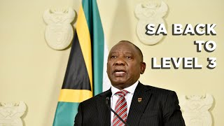 Following a meeting with the NCCC, President Cyril Ramaphosa announced on 25 July 2021 that the country would be moving to alert level 3 of lockdown regulations as COVID-19 infections were steadily declining.  #COVID19 #CyrilRamaphosa #Level3