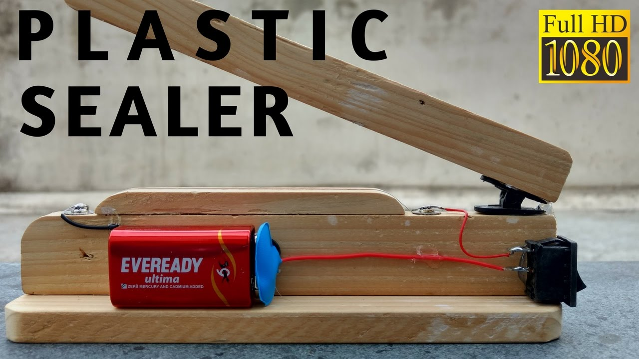 How To Make Plastic Bag Heat Sealer Machine Easy Youtube