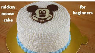 MICKEY MOUSE CAKE  EASY DECORATION  FOR BEGINNERS