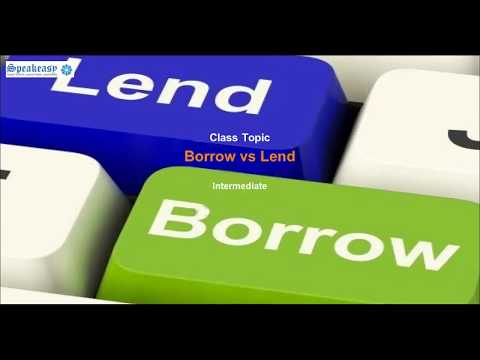 Learn English online-Borrow and lend