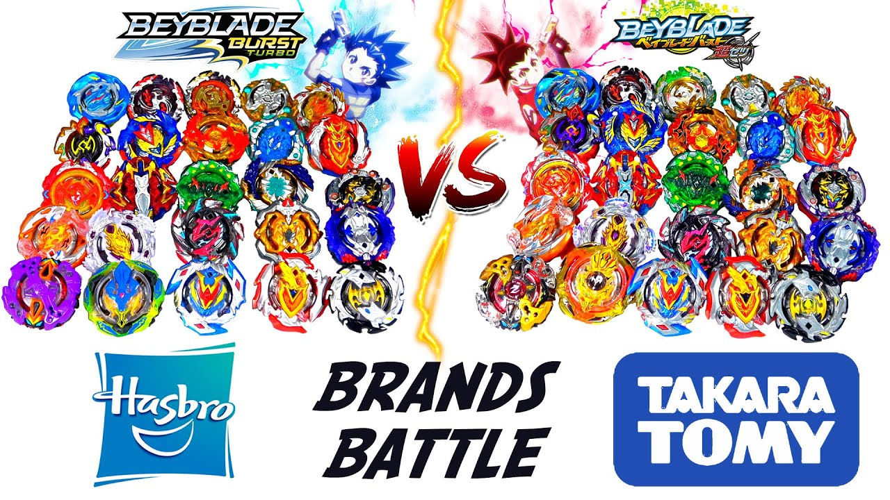 BRANDS BATTLE: BEYBLADE BURST TURBO VS BEYBLADE BURST SUPER-Z (HASBRO vs  TAKARA TOMY)