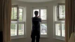 Luxaflex Interior Vinyl Plantation Shutters - Plastic Design - Folding - Adjustable Louvres