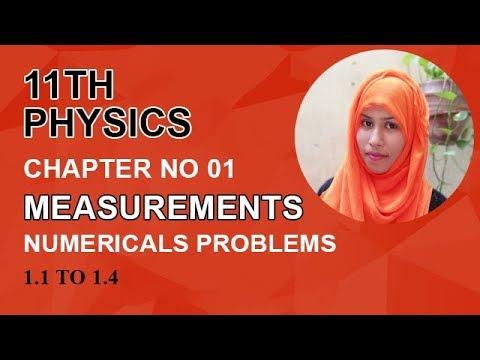FSC Physics book 1, Ch 1, Numericals Problems, Problem no 1 1 to 1 4 -Inter  Part 1 Physics