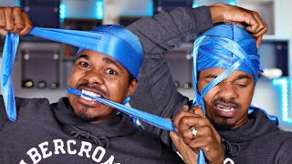 HOW TO GET 360 WAVES: NO KNOT METHOD | HOW TO TYING YOUR DURAG