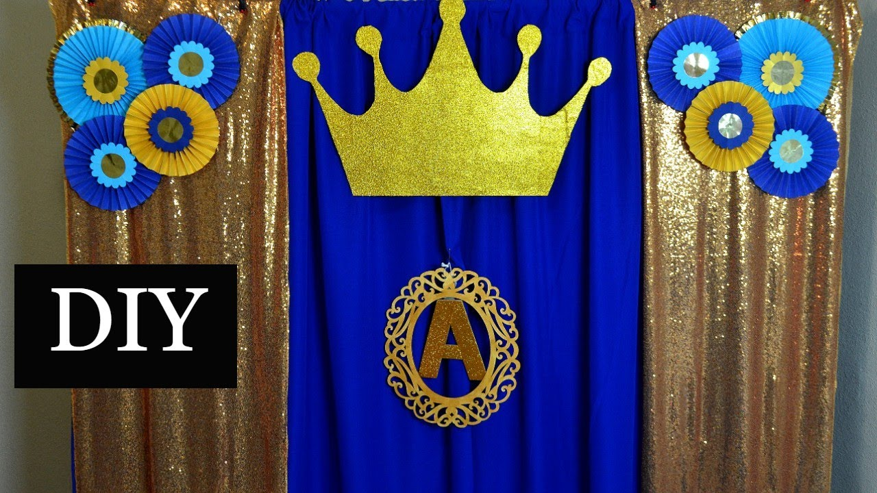 Royal Prince Theme Birthday Decorations 1st Birthday Decoration Ideas At Home For Boy Youtube