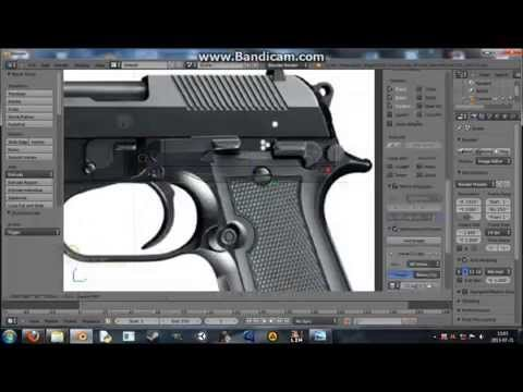 Speed Modeling Beretta 93R [Blender 2.68]