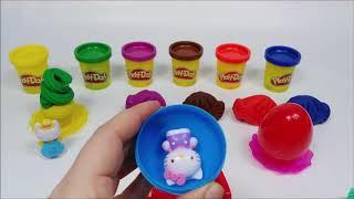Fish Mold PlayDoh and Cupcake Egg Hello Kitty Doll
