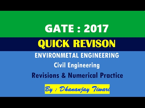 GATE QUICK Revision of Envionmental Engineering Lecture-Civil Engineering-CE