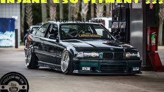 insanely aggressive fitment extreme tire stretch adventure part 2 install e36 widebody felony form