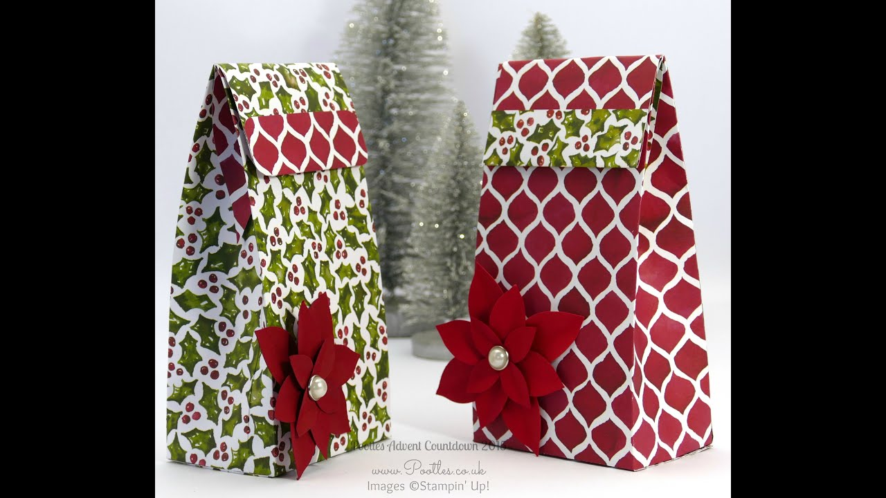Pootles Advent Countdown #7 Folded Gift Bag Tutorial Large
