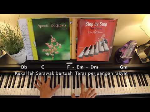Ibu Pertiwiku - State Anthem Of Sarawak Piano Cover (Lyrics+Chords)