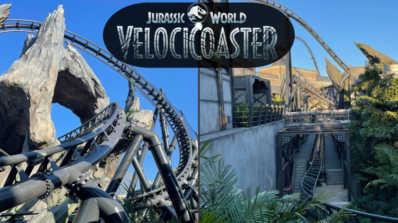 VelociCoaster Construction Update! Ride TESTING & EPIC Theming - Universal Orlando