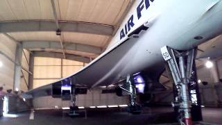Concore Air France. Widok z zewnątrz. Muzeum Lotnictwa i Astronautyki Le Bourget (Musée de l