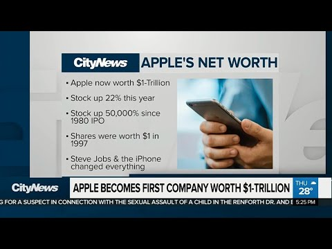 Apple becomes 1st publicly-traded company valued at $1T