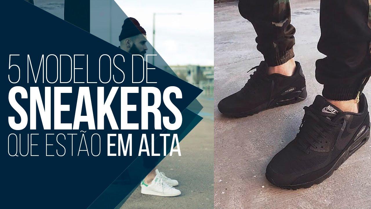 Tendências Masculinas  03 - 5 Tênis Sneakers que estão em alta! - YouTube ad07a253f46c4