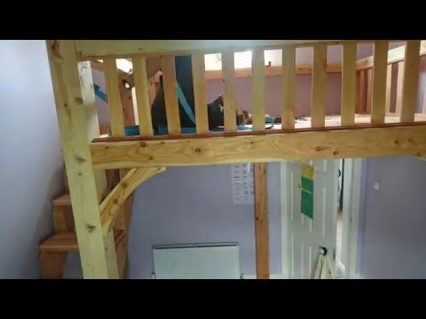 Timber Frame Mezzanine Floor High Loft Bed Time Lapse Installation Part 2