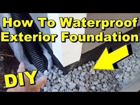 Waterproof Exterior Wall, Footer, Liquid Rubber, Sump Pump, French Drain, DIY