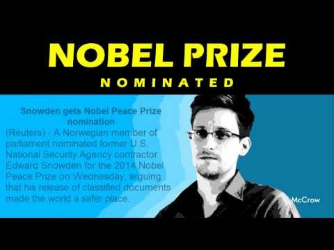 Edward Snowden gets Nobel Peace Prize nomination 2014 ✔✔✔