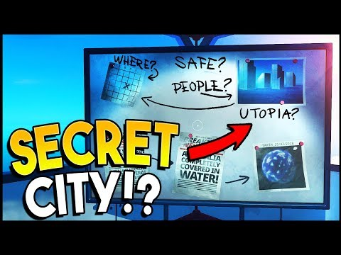 Raft - SECRET MYSTERIOUS UTOPIA CITY & RADIO SIGNAL! Atlantis & Waterworld? (Raft Gameplay)
