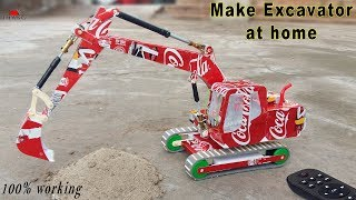 How to make Remote Control EXCAVATOR with 6 DC Motor | 100% working