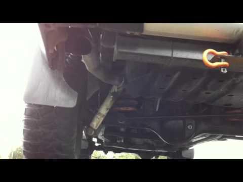 Nissan patrol gu dx 2008 3inch exhaust - YouTube