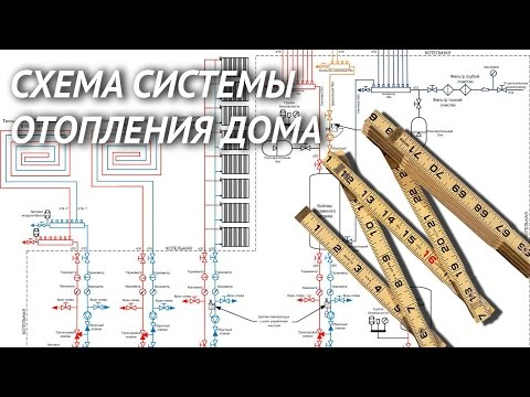 видео: cхема системы отопления частного дома. Правила и ошибки проектирования