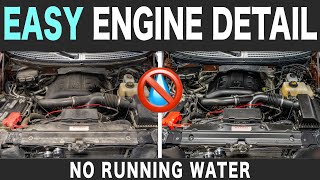 How To Clean Your Engine Safely Without Water // STEAM CLEAN ENGINE BAY!!