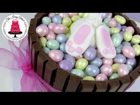 Cake Decorating Icing Artist : EASY Easter Bunny Kit Kat Cake With Mini Eggs! - How To ...
